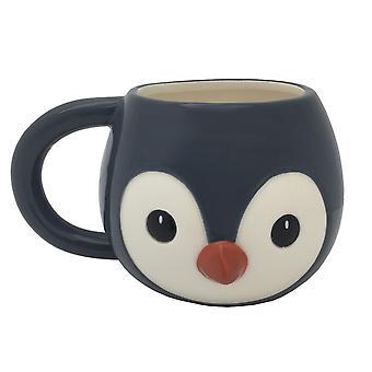Puckator Cutiemals Penguin Head Shaped Mug