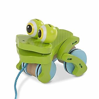 Melissa And Doug First Play Frolicking Frog Wooden Pull Toy