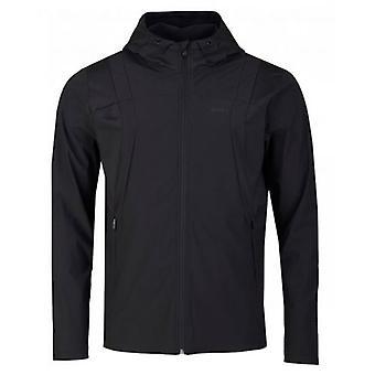 Boss Athleisure Swoven Zip Through Hooded Sweatshirt