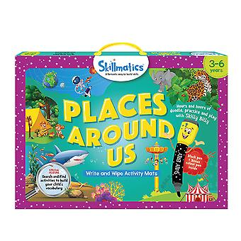 Skillmatics Places Around Us Game Write & Wipe