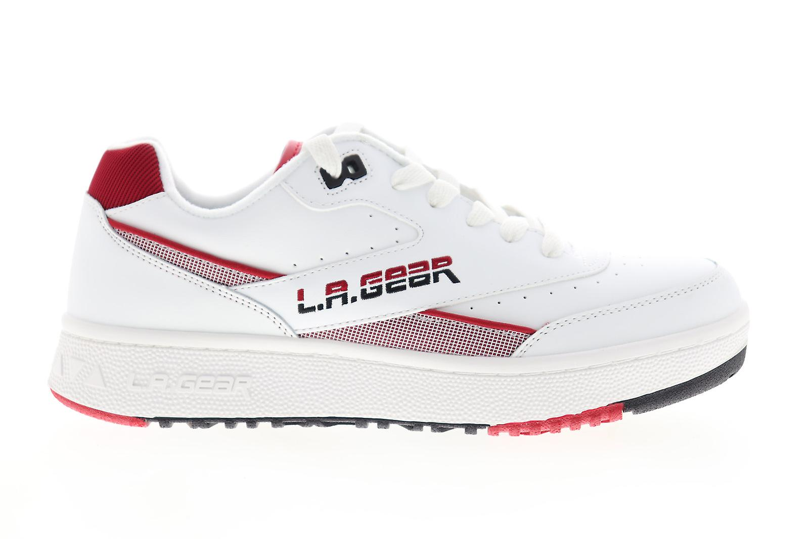 Skechers L.a. Gear Hot Shots Low Mens White Top Sneakers Chaussures