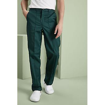 SIMON JERSEY Men's Flat Front Trousers, Bottle Green