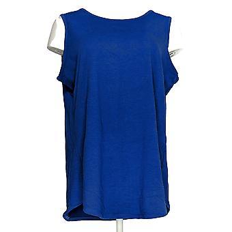 Denim & Co. Women's Essentials Tulip Hem Knit Tank Blue A307551