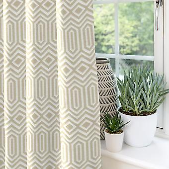 Mcalister Textilien colorado geometrische Taupe Beige Vorhänge