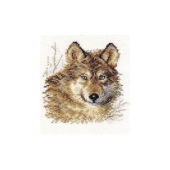 Alisa Cross Stitch Kit - Wolf