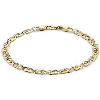 KJ Beckett diamante corte doble encintado pulsera - oro/plata