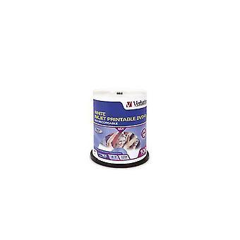Verbatim DVD-R 4.7GB 100Pk Biały atramentJet 16x