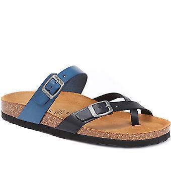 Jones Bootmaker Womens Leather Toe Post Sandal