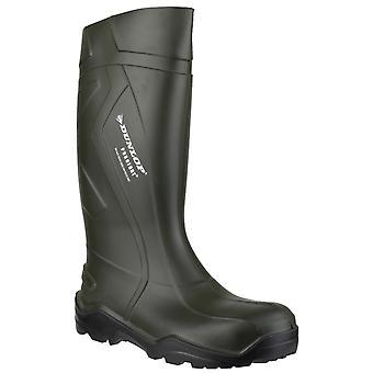 Dunlop män's purofort + wellington boot grön 20225