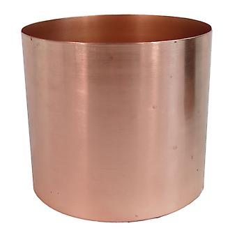 Medium Black Stand with Copper Metal Planter 38.5cm x 18cm