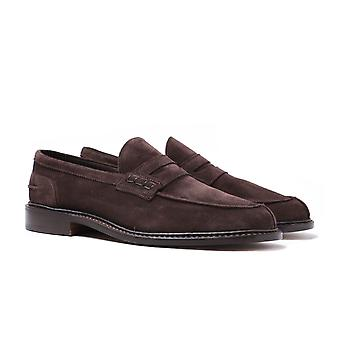 Trickers Adam Coffee Castorino Suede Loafers