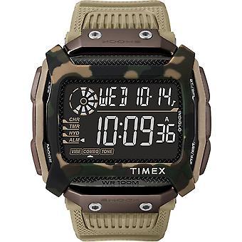 Timex horloge TW5M20600 - Watch Command Boitier R sine Beige Bracelet Siliconen Beige Black Dial Men