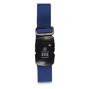 Sangle de valise Fabrizio TSA 5 cm, bleu