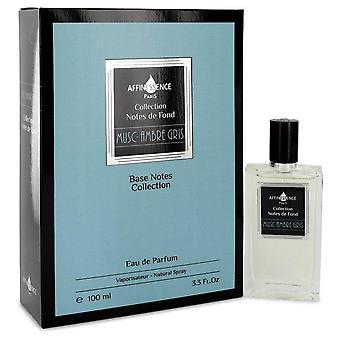 Musc ambre gris eau de parfum spray (unisex) by affinessence 543722 100 ml