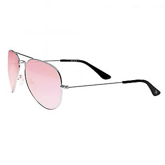 Sixty One Honupu Polarized Sunglasses - Silver/Pink