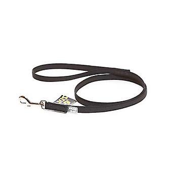 """Julius-K9 Color & Grey Super-Grip Leash Black-Grey Width (1/2"""" / 14mm) Lenght (3ft/ 1 m) With Handle, Max for 66lb/30 kg Dog"""