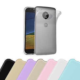 Cadorabo fallet för Motorola MOTO G5 fodral Cover-mobiltelefon fall tillverkad av flexibel TPU Silikon-silikonfodral skyddande fodral Ultra Slim soft tillbaka täcker fallet stötfångare