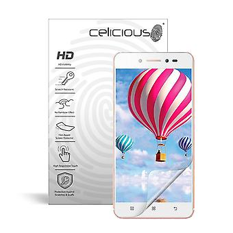 Celicious Vivid Invisible Glossy HD Screen Protector Film Compatible with Lenovo Sisley s90 [Pack of 2]