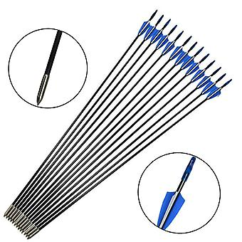 Fiberglass Arrow Kits With Shield Feathers For Shooting Practice, Hunting