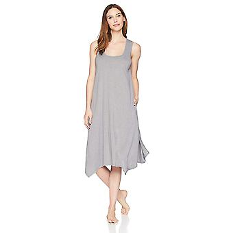 Arabella Women's Sleeveless Rayon Slub Nightgown,Medium Grey Heather,Medium