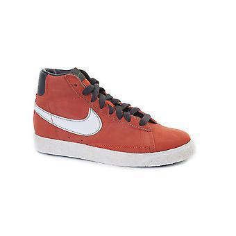 نايكي بليزر منتصف الفضل (PS) أورانج / أبيض 539931 800 أحذية الأولاد الأحذية