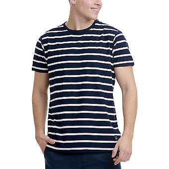 Funky Buddha Men's T-Shirt In Stripe Pattern