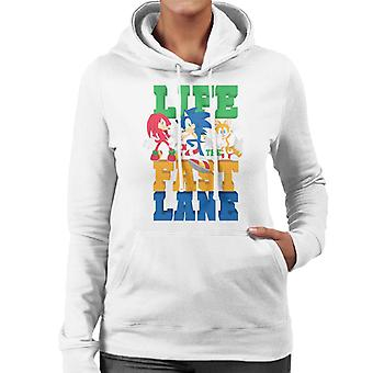 Sonic The Hedgehog Life In The Fast Lane Women's Hooded Sweatshirt