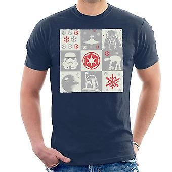 Star Wars Christmas Empire Grid Men's T-Shirt