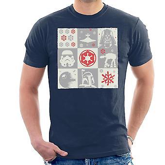 Star Wars joulu Empire Grid miesten ' s T-paita