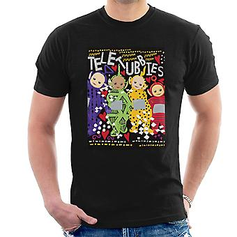 Teletubbies Together Heart Pattern Men's T-Shirt