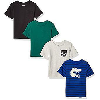 Brand - Spotted Zebra Boys' Big Kid 4-Pack Short-Sleeve T-Shirts, Chom...