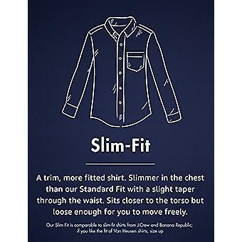 Goodthreads الرجال & ق & اقتباس قميص أكسفورد الكمال & نقلا عن سليم تناسب طويلة الأكمام الصلبة, النيلي, شامين كبير طويل القامة