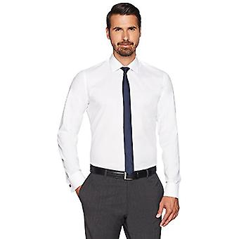 BUTTONED DOWN Men's Slim Fit French Cuff Spread-Collar Non-Iron Dress Shirt, ...