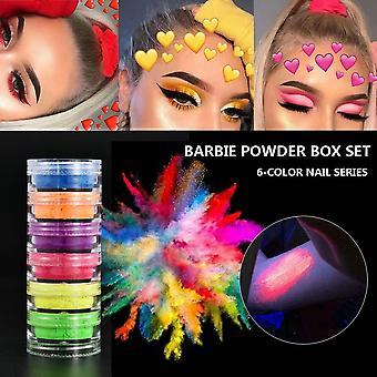 6 Color/sets Lasting Fluorescent Matte Eyeshadow Neon Pigment Powder - Halloween Palette