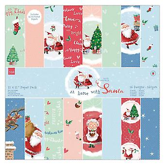 Papermania kotona Joulupukin 12 x12 tuuman paperipakkauksen kanssa