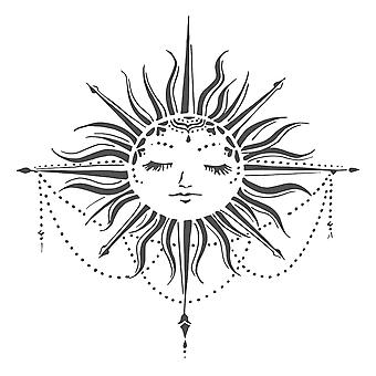 The Crafter's Workshop Celestial Sun 6x6 Inch Stencil