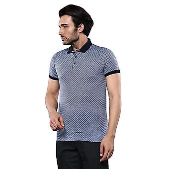 Blue patterned polo t-shirt | wessi