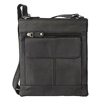Primehide Ranger Upcycled Leather Crossbody Shoulder Bag - Tablet Bag - 1451