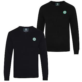 Celtic FC officiella fotboll Gåva Mens Crest Stickade V-Neck Jumper
