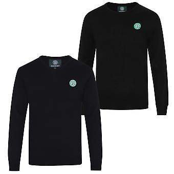 Celtic FC Mens Jumper Knitted Crest OFFICIAL Football Gift