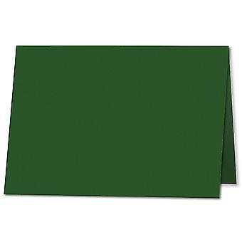 Dyb grøn. 105mm x 148mm. A7 (lang kant). 235gsm Foldet kort Tom.