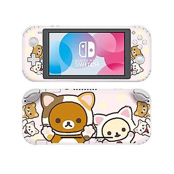 Teddy Bear And Paw Printed-vinyl Sticker For Nintendo Switch