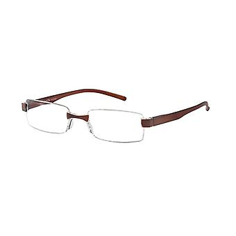 Reading Glasses Unisex Le-0184B Toulon Brown Strength +2.50