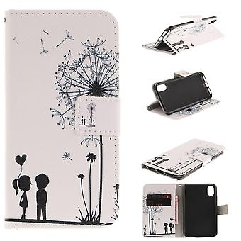 Shell for Apple iPhone X Dandelion Case Protection Motif Pattern Wallet Leather