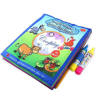 Cartoon Partern Magic Water Book Doodle With Magic Pen Creativity Developing Learning Educational Toys For Kids Gift