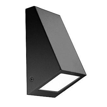 1 lys udendørs væg lys sort IP44