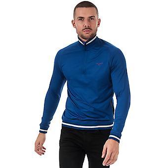 Män & apos;s Ted Baker Halv Zip Funnel Neck Sweatshirt i blått