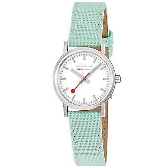 Mondaine Classic Quartz White Dial Neo-Mint Strap Ladies Watch A658.30323.17SBQ