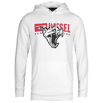 Diesel S-Gir BX1 Felpa White Hooded Sweatshirt