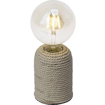 LYSANDE Lampa Cardu Bordslampa Natural | 1x G95, E27, 40W, lämplig för normala lampor (ingår ej) | Skala A++ till
